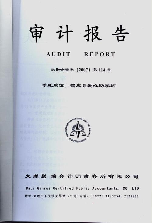 审计报告翻译案例