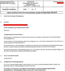 德语营业执照