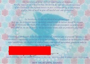 美国护照原件